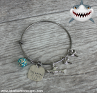Shark of the Sea Adjustable Bangle