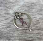 Pink Ribbon Crystal Ornament